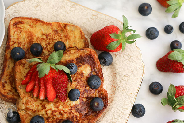 Low GI Breakfast ideas - french toast