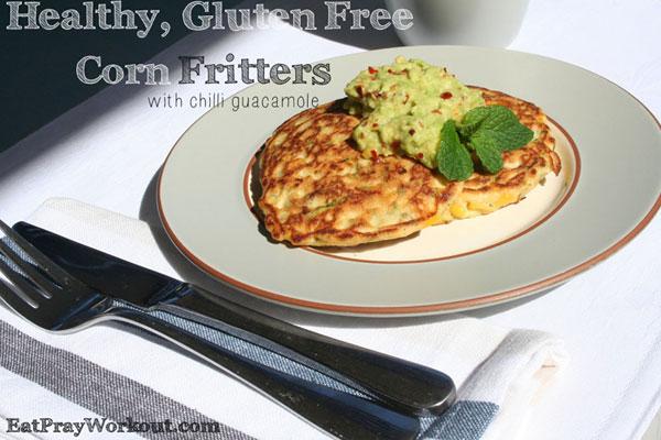 Low GI Breakfast ideas - corn fritters