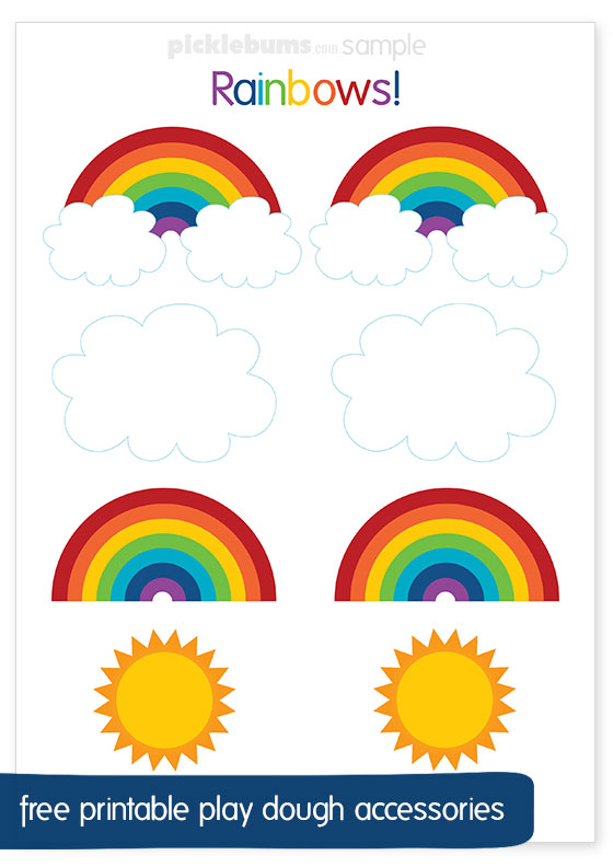 graphic about Free Printable Rainbow identify Rainbow Participate in Dough Totally free Printables - Pickles
