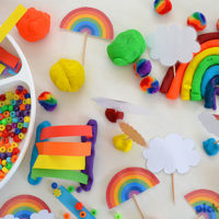 Rainbow Play Dough Free Printables