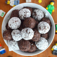 Easy, no-cook, chocolate cookie balls in two flavours - choc mint and cherry ripe!