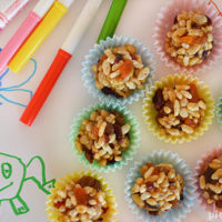 Fruit Crunchies - an easy sweet snack the kids can cook. Great for lunch boxes too