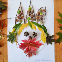 Leaf Faces – An easy, low-mess, nature craft