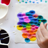 Absorption Painting – An Easy Process Art Activity