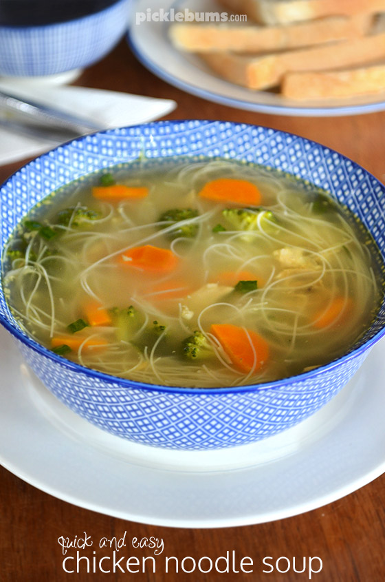 Easy chicken noodle soup - a great kid-friendly family dinner