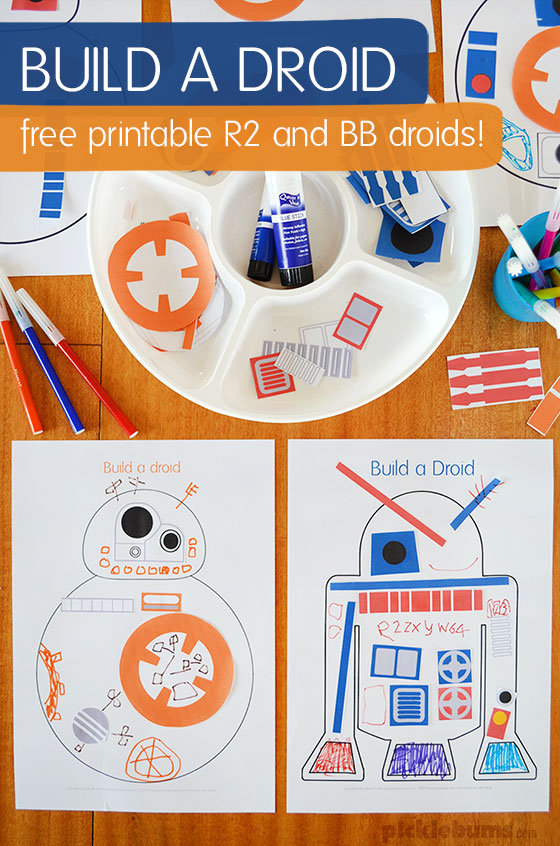 image relating to Star Wars Thank You Cards Printable Free referred to as Develop a Droid - Star Wars Get together Printable - Pickles