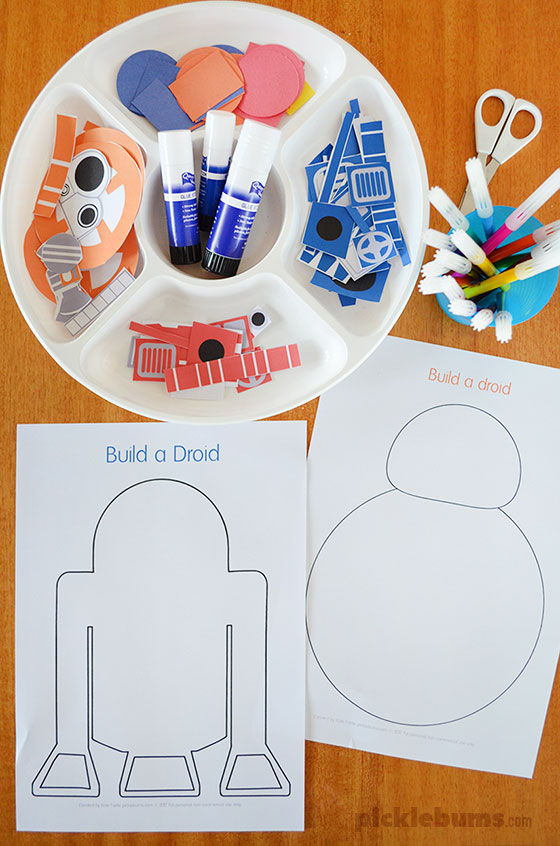 photograph about Star Wars Printable Crafts identify Develop a Droid - Star Wars Get together Printable - Pickles