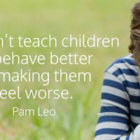 Our job as parents is not to punish, but to teach