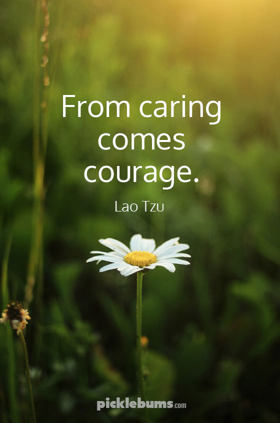 From caring comes courage - the gift of caring