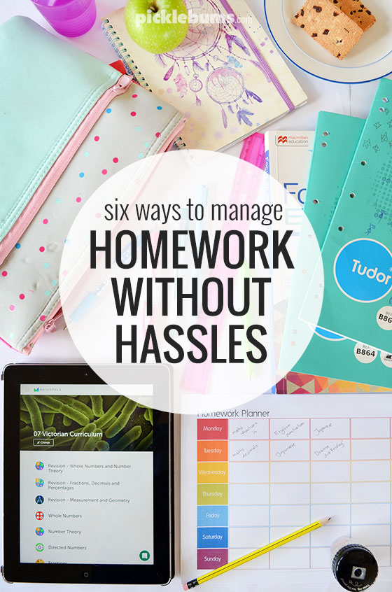 Six ways to help kids manage homework without hassles - plus a free printable homework planner and access to Mathspace Essentials, a great homework helper