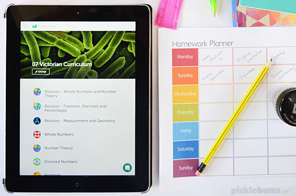 Six ways to manage homework without hassles - plus a free printable homework planner and access to Mathspace Essentials, a great homework helper