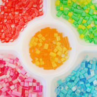 Straw mosaic art - supplies