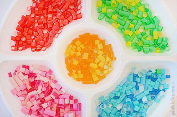 Straw mosaic art - supplies