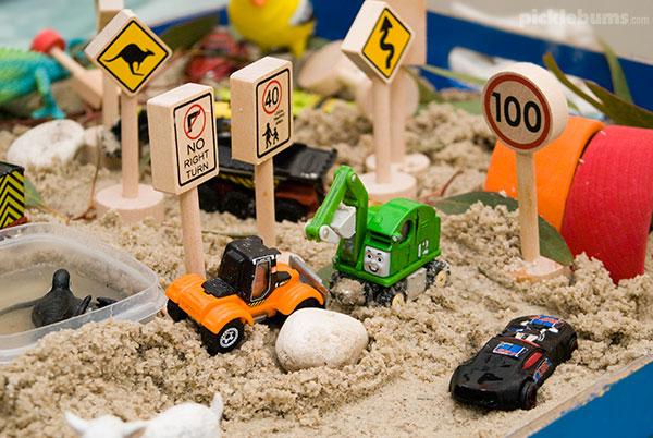 Easy sensory play ideas - easy sand play