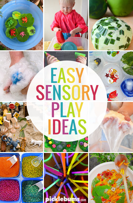 Sensory play doesn't have to be difficult, or even that messy! Try one of these easy sensory play ideas
