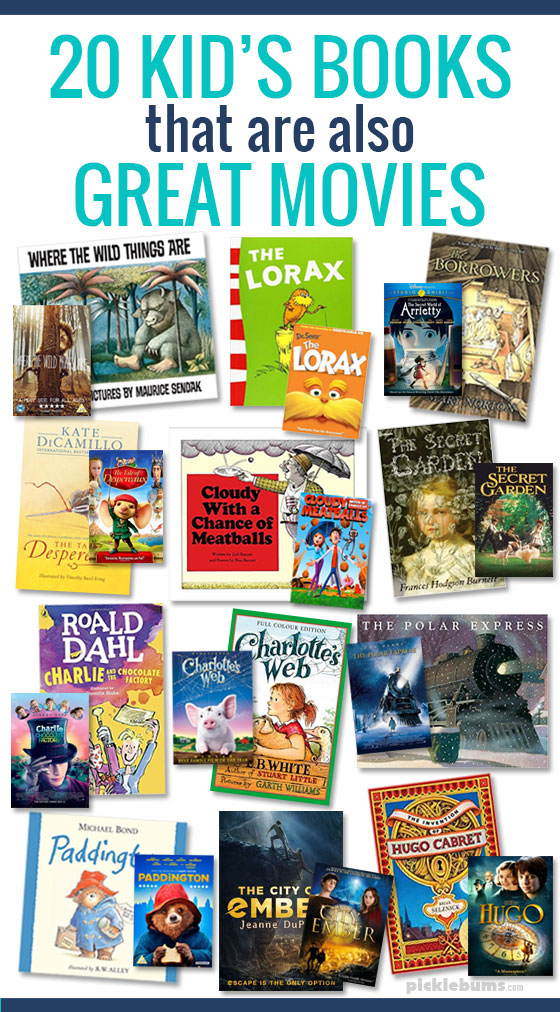 20 kids books that are also great movies