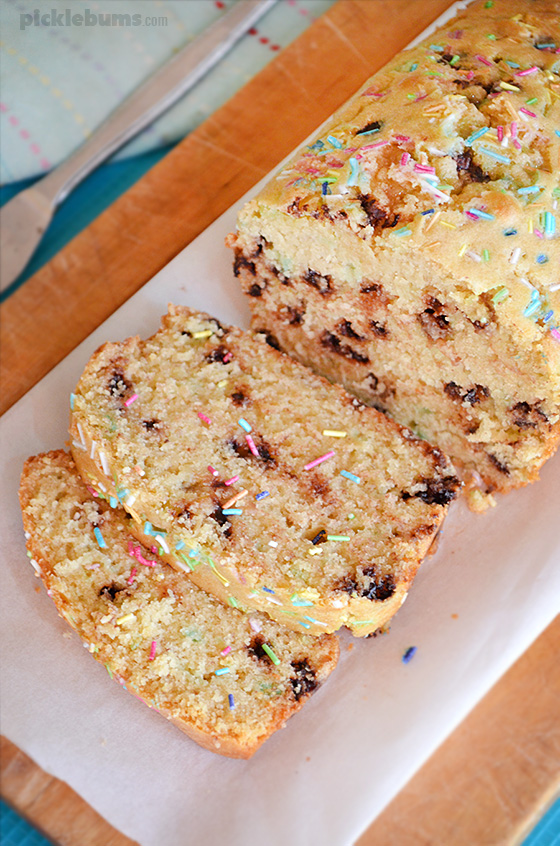Chocolate Chip Sprinkle bread - easy, versatile and delicious!