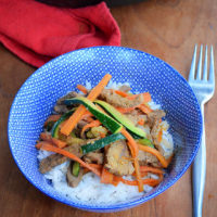 Cumin, garlic and beef stir fry - a super quick and easy family meal