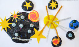 Super Cool Space Play Dough Activity.