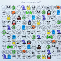 Halloween Find and Colour Free Printable