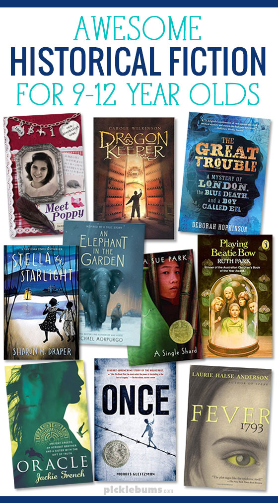 Ten Awesome historical fiction books for tweens