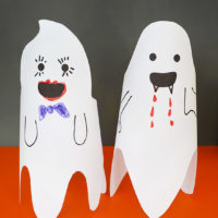 Make your own fun friendly paper ghosts