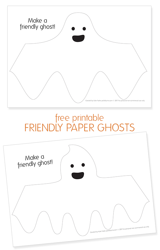 Free printable paper ghosts