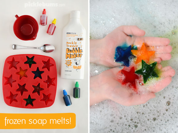 Four bubbletastic ways to make bath time fun - make frozen soap melts!