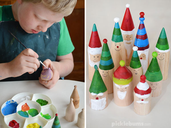 Making gnomes for our forest set