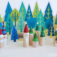 Make your own gnome forest with our free printable forest set