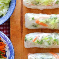 Easy Rice Paper Rolls with Leftovers!
