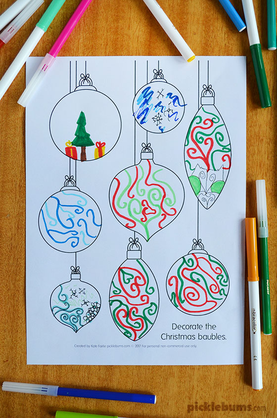 Design a decoration - free printable drawing prompts!