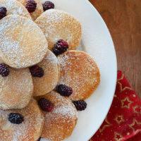 Mini Gingerbread Pancakes.