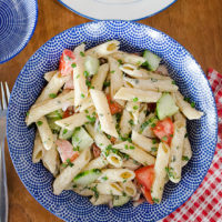 Simple Summer Pasta Salad.