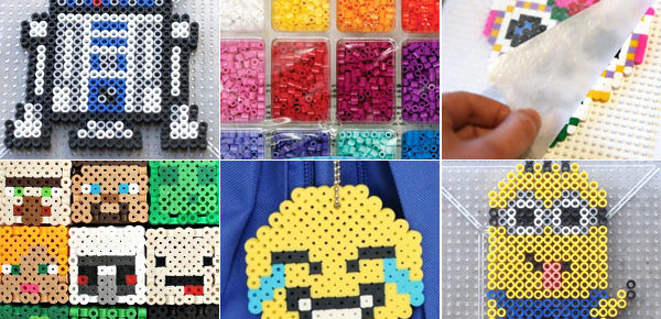 a collage of perler bead ideas