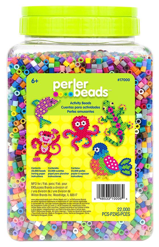Tub of perlerbeads
