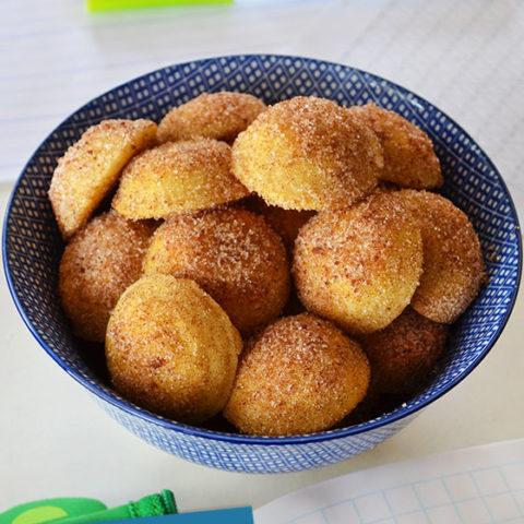 Cinnamon Sugar Pancake Bites