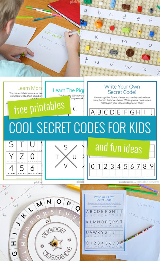 Cool Secret Codes For Kids Free Printables Picklebums