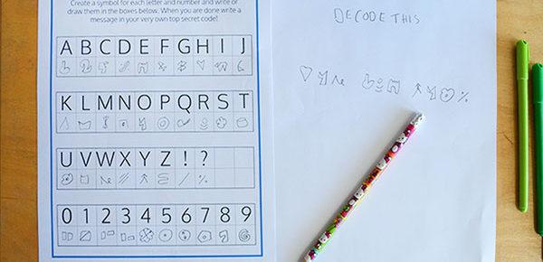 Make your own secret code free printable