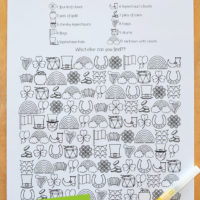 Free Printable St Patrick's Day Find and Colour Activity