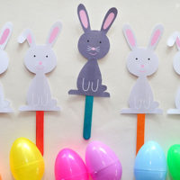 Easter Bunny Puppets – Free Printable