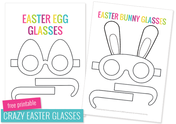 Free printable Easter glasses templates