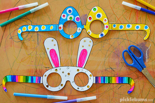 Free printable Easter glasses to make