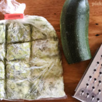 how to freeze grated zucchini in sections
