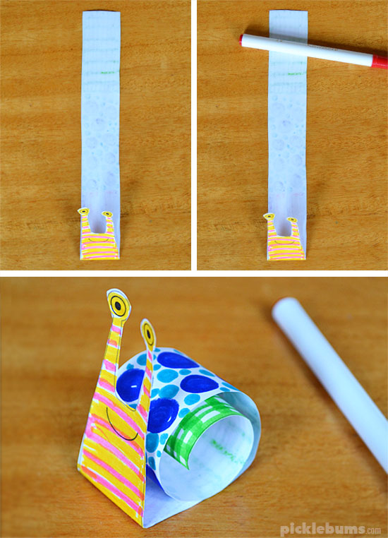 How to make a rolled paper snail