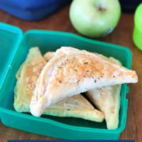 Savoury pastry triangles, great for using up leftovers and perfect for lunchboxes.