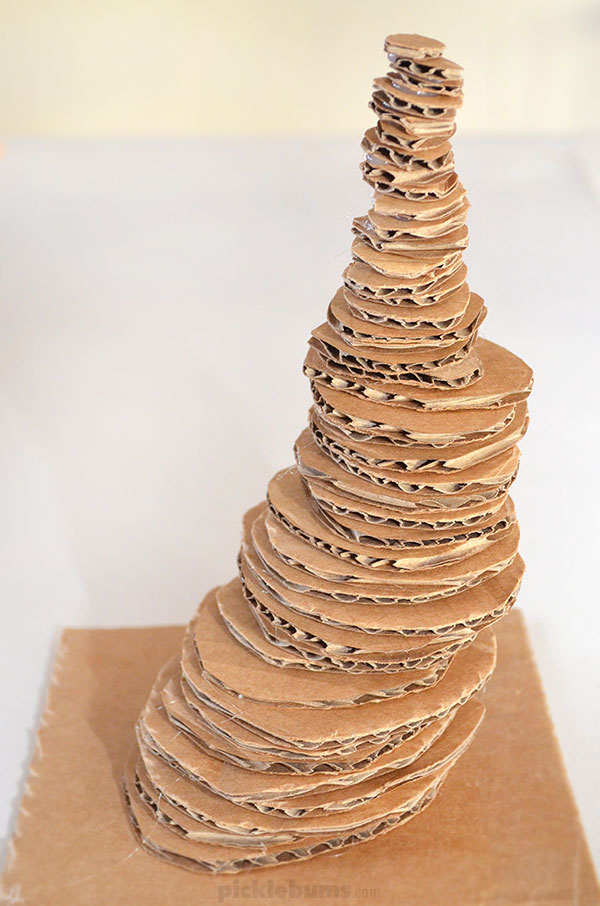 Make a Stacked Cardboard Sculpture - an epicly cool art activity for kids