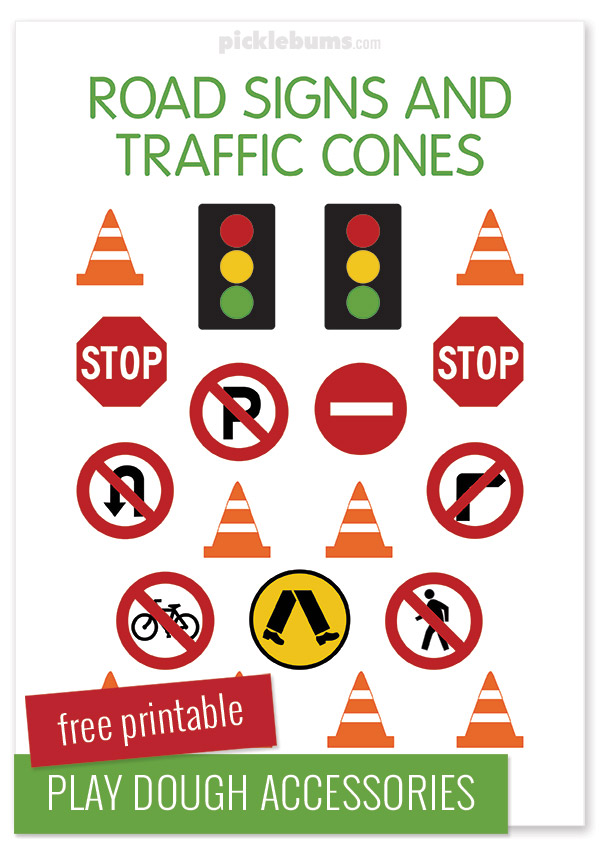 photograph about Free Printable Road Signs known as Metropolis Perform Dough Sport: Simple Participate in Thought As well as Totally free Printable