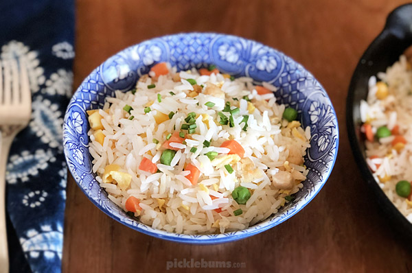 Easy, ten minute, fried rice!