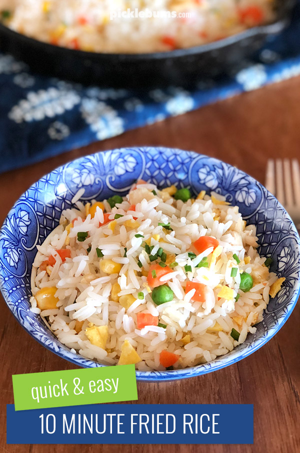 Ten minute fried rice a quick and easy family dinner picklebums easy ten minute fried rice ccuart Choice Image